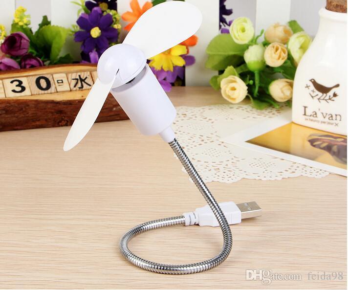 2017 New Arrival porta USB Flexível Mini Ventilador de Refrigeração Mini em forma de serpente fã mudo folhas suaves pequeno ventilador G613