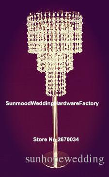 мычка или утюг золота, кристаллический штендер для украшения centerpices путя прогулки венчания, ручной работы