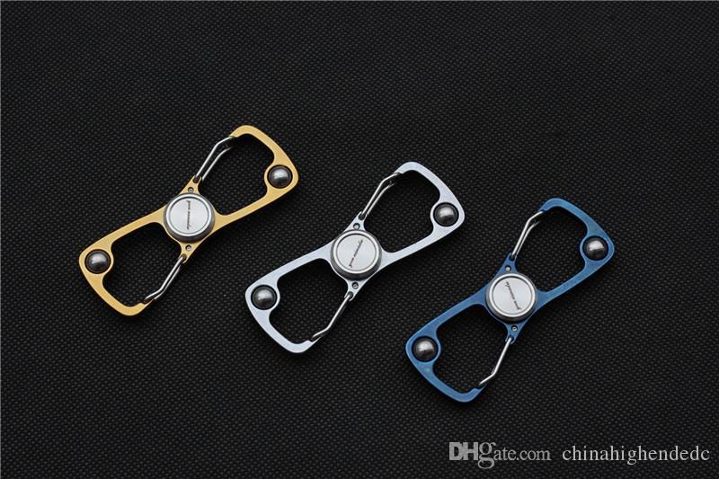 Envío libre, hilandero del dedo del clip 8 con la herramienta al aire libre del EDC de la manija de acero del cojinete de bolitas 420