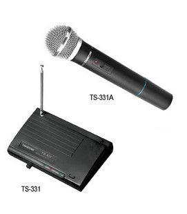 ブランドタクスターVHF TS-331BまたはTS-331Aワイヤレスマイクロフォンシステム1送信機1レシーバ周波数範囲220MHz-270MHz送料無料