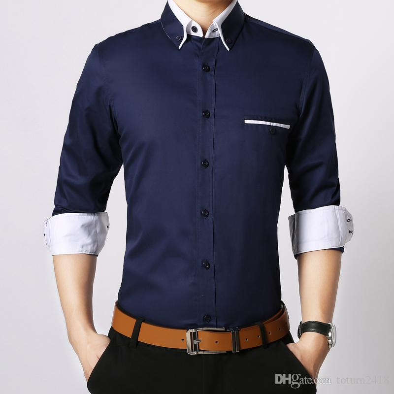 Mens casual dress shirts custom shirt for Finest mens dress shirts