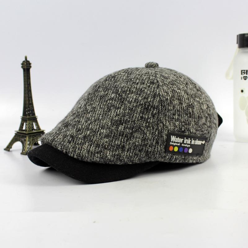 2019 Wholesale Man Vintage Newsboy Cap Male Wool Bone Woman Winter Beret Hat  Female Flat Cap Femme Knit Chapeau From Value333 e72652fae7d3