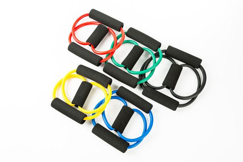 المقاومة 8 نوع العضلات الصدر المتوسع حبل تمرين اللياقة البدنية ممارسة اليوغا أنبوب الرياضة سحب التمارين