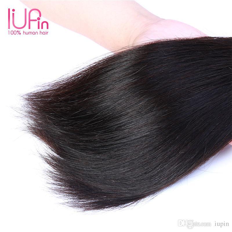 Brazilian Malaysian Peruvian Indian Hair Straight Hair Weaving 8''28'' 3 Bundles Straight Human Hair Indian Weave Natural Black For Sale