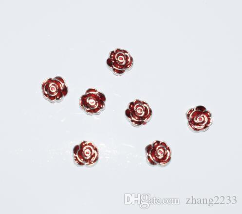 arrivée Deep Red Rose Floating Charm pour Memory Memory Mémoire en verre médaillons