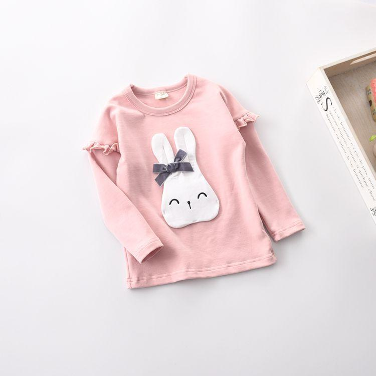 2017 kids clothing Happy Easter Colorful Cute Holiday Kids T-Shirt Gift Idea Youth T-Shirt Easter Rabbit Silhouette Cool baby girls clothes