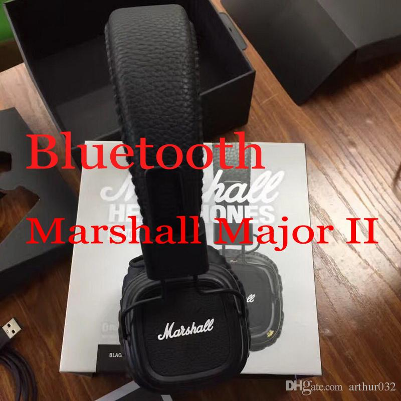 Marshall Major II 2.0 Bluetooth Wireless Headphones DJ Headphone Deep Bass Noise Isolating Headset Earphone for iPhone Samsung Smart Phone