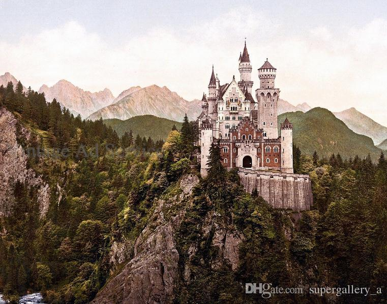 neuschwanstein castle bavaria germanyhigh quality hd print landscape wall art painting on canvas multi size vinta pr086 landscape art high quality canvas