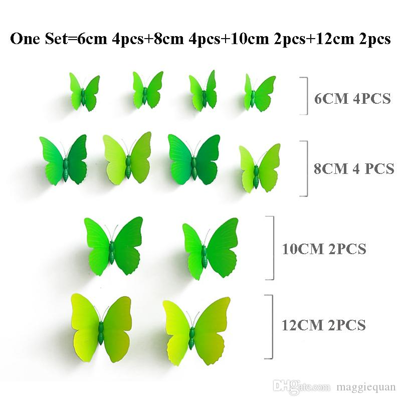 PVC 3d Butterfly Wall Stickers Art DIY Simulation Butterflies Wall Decor Party Nursery Decals for Living Room Home Decoration