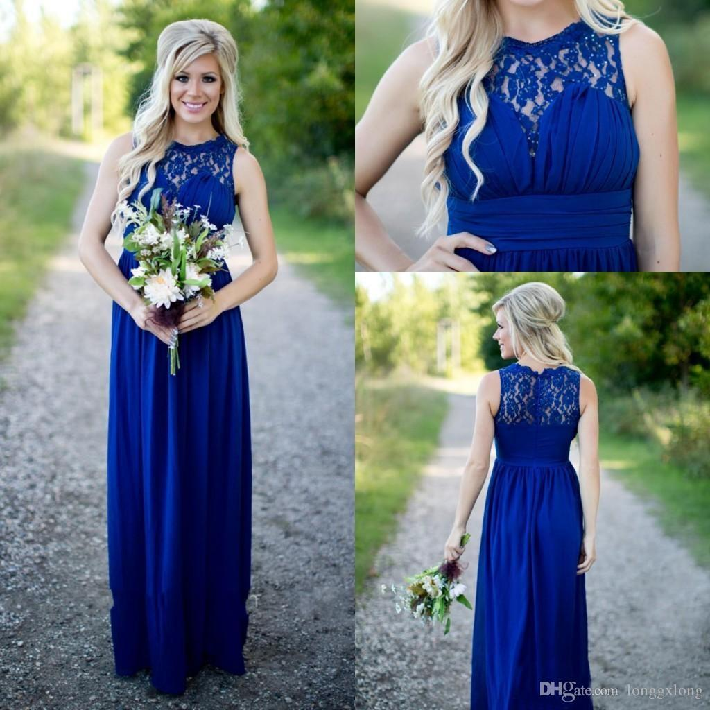 Royal blue 2017 bohemian bridesmaid dresses scoop beaded a line royal blue 2017 bohemian bridesmaid dresses scoop beaded a line chiffon maid of honor dresses cheap formal party gowns halter neck bridesmaid dresses latest ombrellifo Image collections