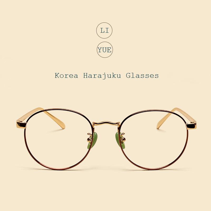 a44d6d313a Wholesale- LIYUE Women Myopia Spectacle Frame Gold Eyewear Frame ...