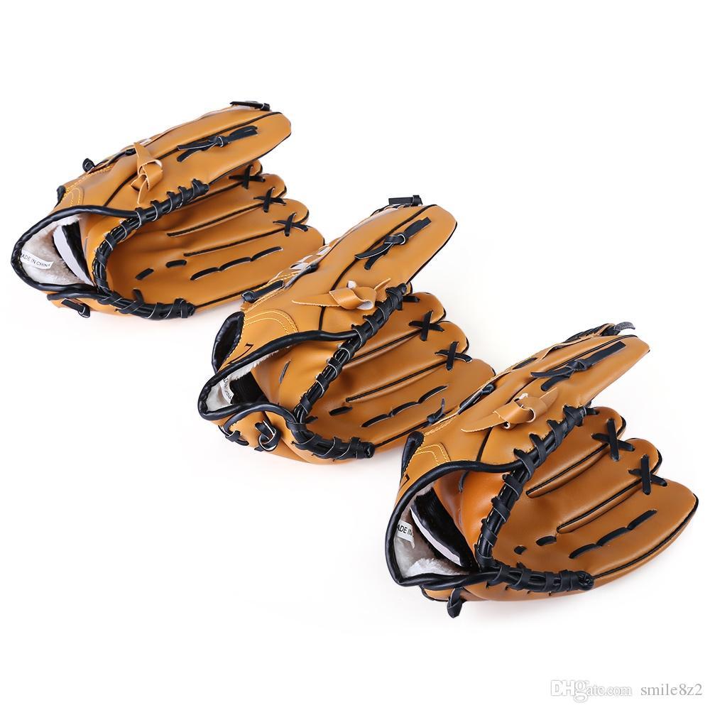 Outdoor Sports Brown Guanto Softball Practice Equipaggiamento Dimensione 10.5 / 11.5 / 12.5 Mano sinistra uomo adulto Allenamento donna + B