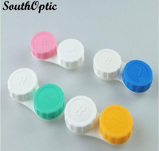 Di plastica portatile mini supporto delle lenti del contatto di viaggio lenti a contatto Contenitore Con Specchio facile trasportare Occhi Cura