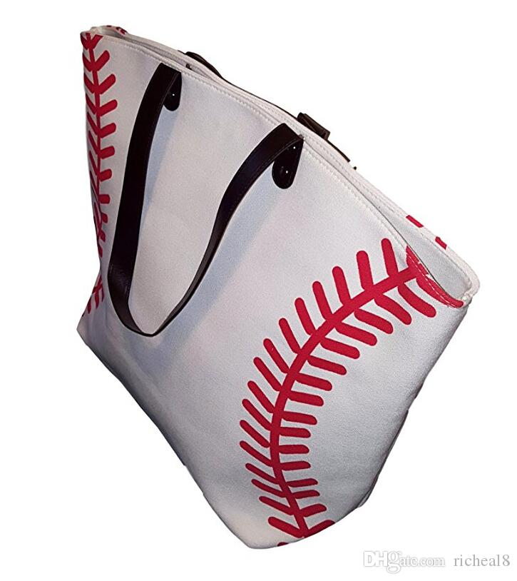 3 colors stock black white Blanks Cotton Canvas Softball Tote Bags Baseball Bag Football Bags Soccer ball Bag with Hasps Closure Sports Bag
