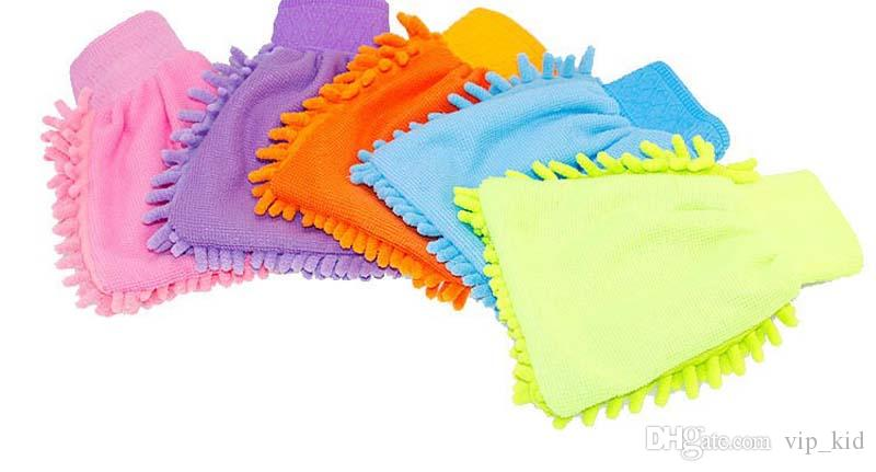 Car Hand Soft Cleaning Towel Microfiber Chenille Washing Gloves Coral Fleece Anthozoan Car Sponge Wash Cloth Car Care Cleaning