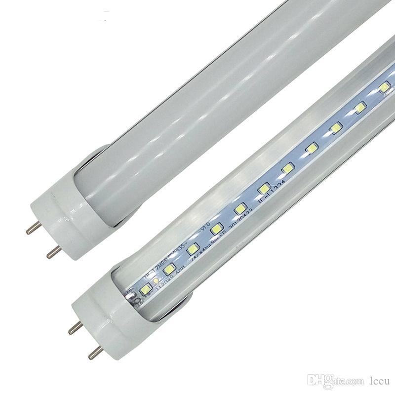 미국 +에서 재고 22W 28W 따뜻한 차가운 백색 1,200mm 4피트 SMD2835 / 슈퍼 밝은 LED 형광 전구 AC85-265V UL 튜브를 주도 4 피트