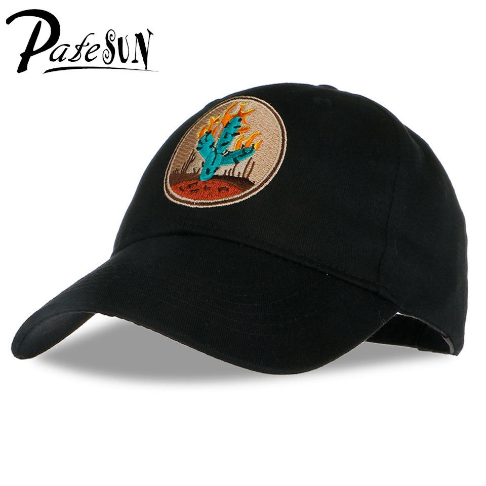 a6ab85f093b58 Wholesale PATESUN 2017 Brand New Cactus Embroidered Baseball Cap Black 6  Panel Fishing Hat Travis Scotts Rodeo Cap White Snapback Cap Leather Hats  The Game ...