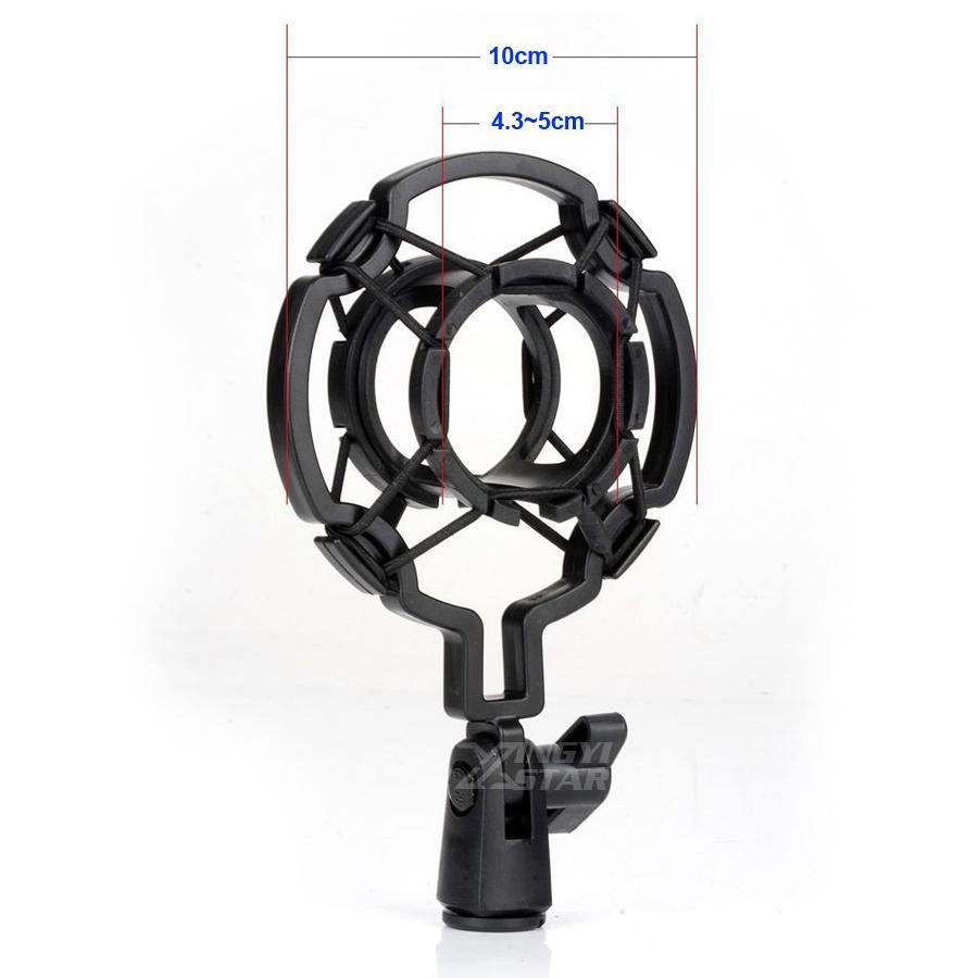 Evrensel Siyah Stüdyo Kayıt Mikrofon Şok Dağı Tutucu Kondenser Mic Standı Kelepçe Mike Klip PC Bilgisayar Yayın Singing Shockmount
