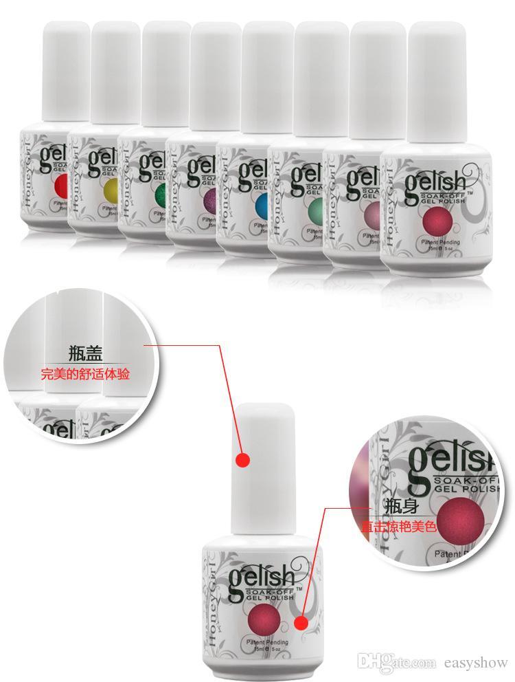2017 ТОП 15 мл Gelish польский Soak off УФ-гель лак для ногтей Gelish nail art лак бесплатный Fedex TNT доставка