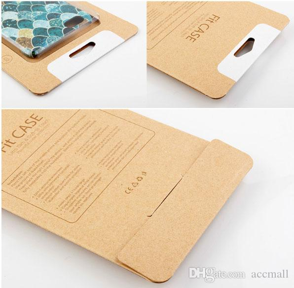 Retail Packaging Box Kraft Paper Packing Box Blister Holder for iPhone 6 6S 7 8 Plus X Samsung Note 8 6 5 S7 S6 Edge for Phone Case Cove