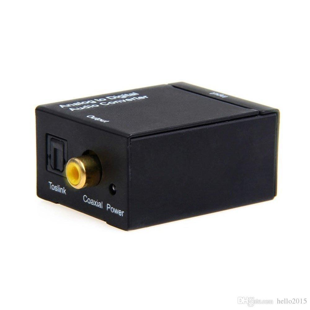 동축 Spdif 또는 Toslink 광 디지털 대 아날로그 L / R RCA 오디오 변환기 Conversor 어댑터 5.1 채널 스테레오 AC3 / DTS