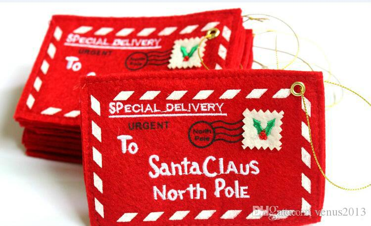 Noel Ağacı Zarf Tebrik Kartları Şeker Hediye Çantası Dekorasyon Mükemmel Yılbaşı Hediyeleri Arkadaş Noel Malzemeleri Için