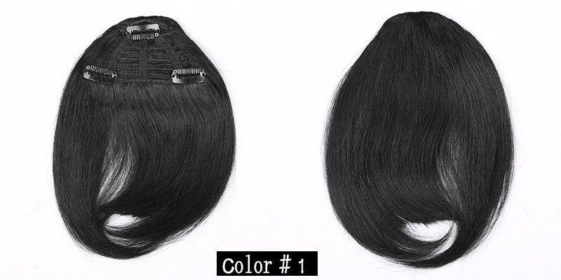 100% Human Hair Fringe Bold Blunt Clip In Hair Bangs Brazilian Virgin Hair Choose