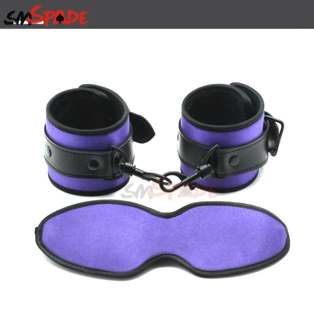 Smspade Satin Bondage Kit Sex Restraints Handcuffs