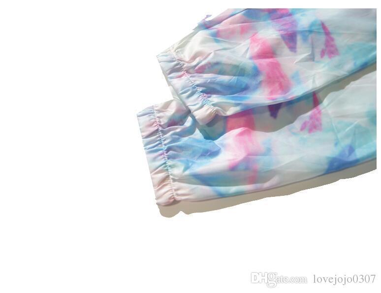 Imported-clothing mens jacket ST World Tour paint colorful splash-ink jacket for girls sunscreen color gradient jacket 101725