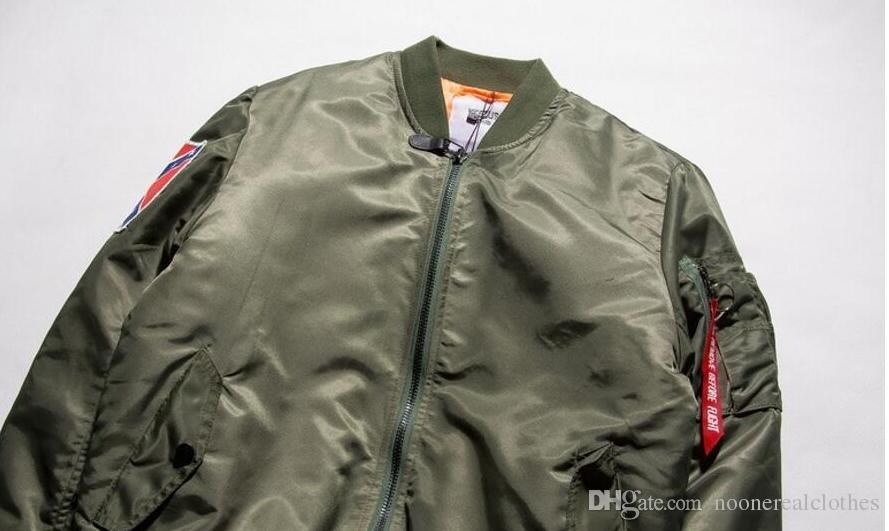 KANYE WEST YEEZUS Jaqueta MA1 Jaqueta Bomber Piloto Casacos jaquetas para homens Hip Hop Terno Do Esporte Parkas Inverno Casaco Blusão Homens casaco