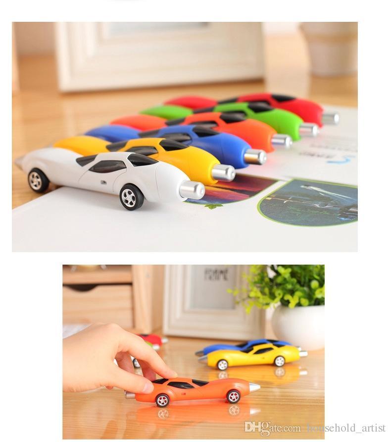 Forme de voiture Stylos à bille Stylo à bille Stylo à bille Écriture Stylos Papeterie créative Étudiants Cadeaux pour enfants Soutien Logo personnalisé