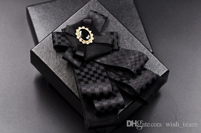 Caballero Pajarita Mariposa Hombres Formal Comercial Corbata Pajarita Masculino Color Sólido Marriage Pajaritas es 2017 El Más Nuevo