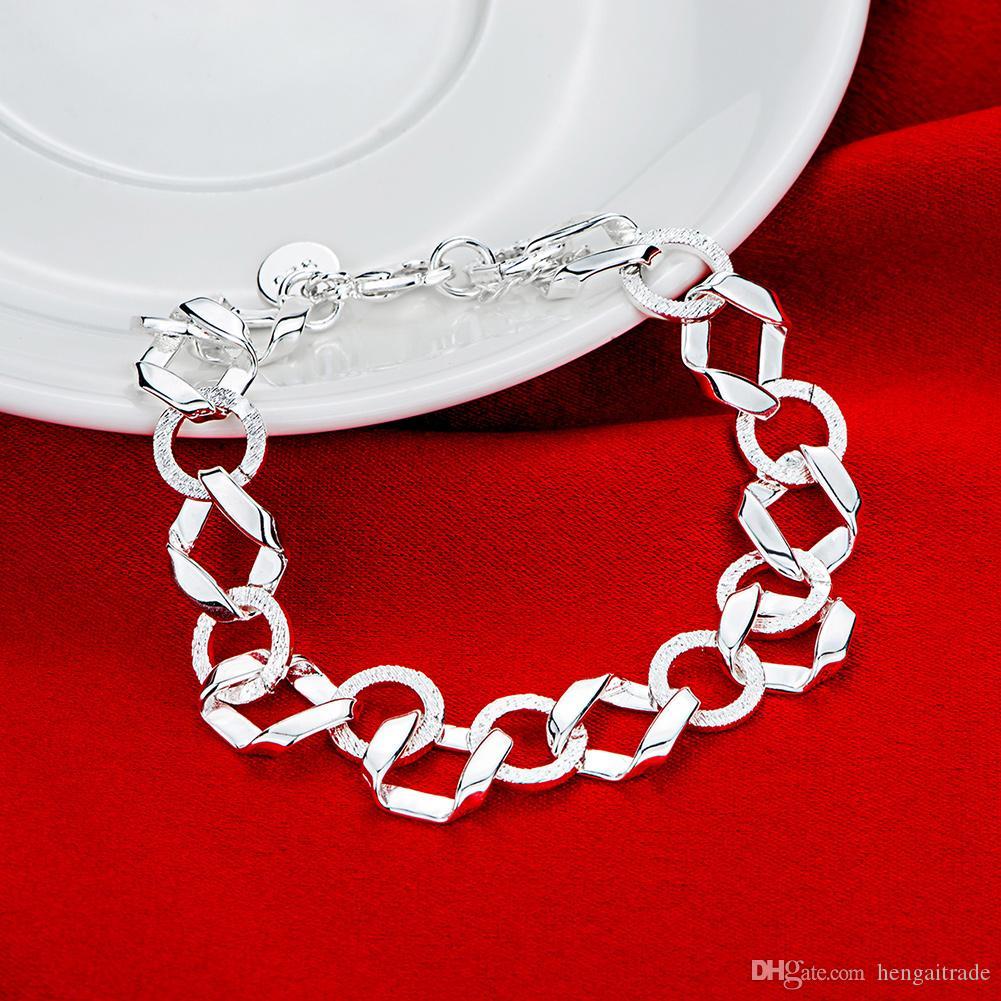Бесплатная доставка Оптовая стерлингового серебра 925 покрытием Омаров Шарм браслеты LKNSPCH527