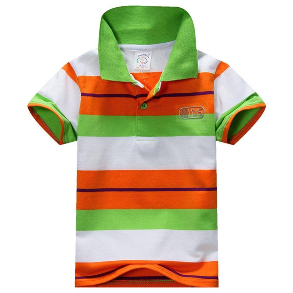Baby Boys Kid Tops T Shirt Summer Short Sleeve T Shirt Striped Polo