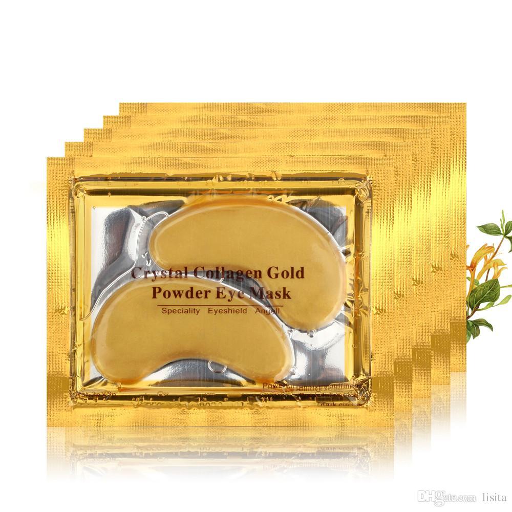 ROSOTENA DHL Golden Eye Mask Women Crystal Eyelid Patch / Crystal Collagen Eye Mask Gold Mask Dark Circle Anti-Aging