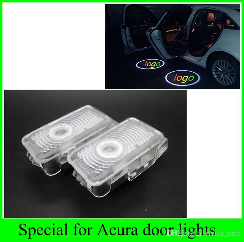 Honda Acura MDX ZDX TL RLX Otomobiller araba ışık kaynağı LED kapı karşılama için 2 adet 2016 yeni lazer projektör logosu hayalet gölge ışıkları