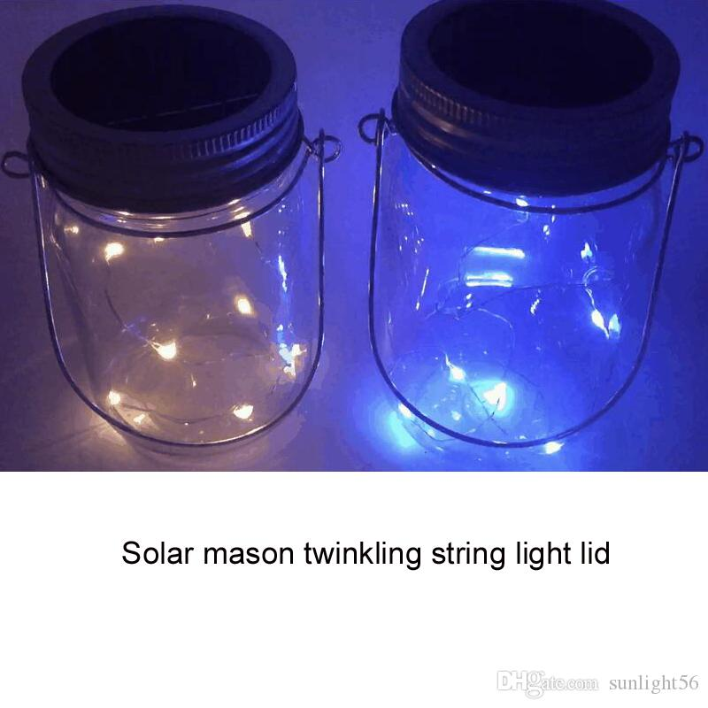 Attractive Solar Lid Light Wholesale Part - 11: 2017 Wholesale Solar Mason Twinkling String Light Lids, One Sting Has  Single Color Led Can Randomly Twinkling From Sunlight56, $3.12 | Dhgate.Com