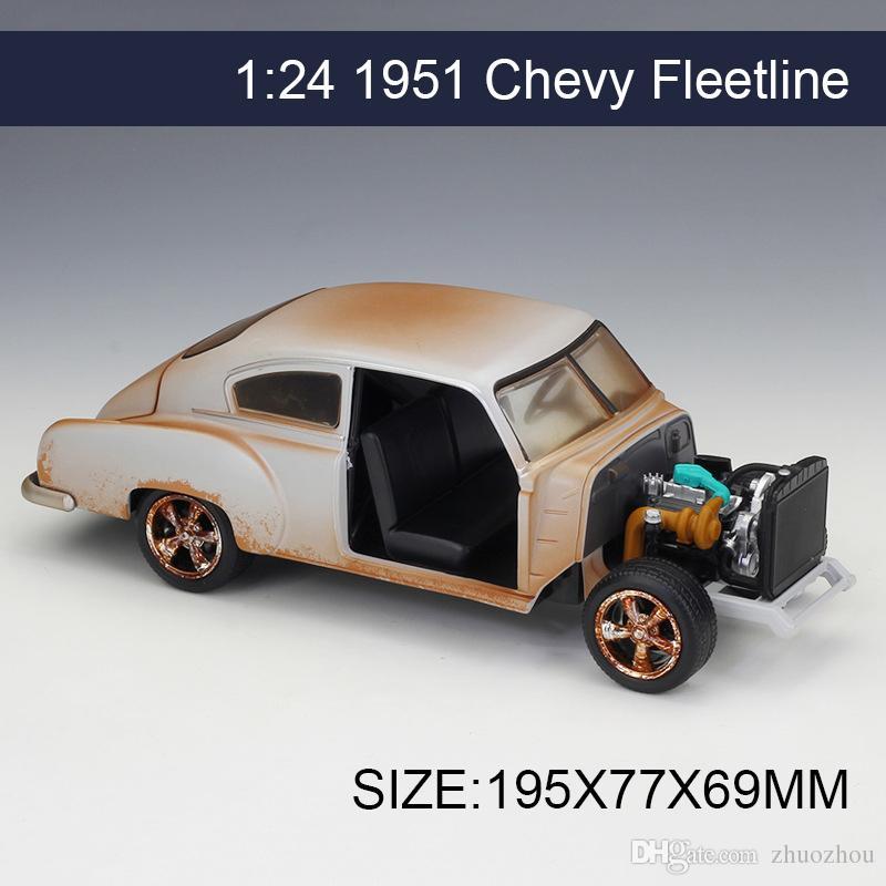 JADA 1:24 Model Car Dom\'s Chevy Fleetline Metal Vehicle Play ...