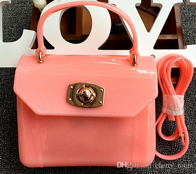 New Gel Princess Bag Sacchetti di scuola bambini Jelly Package Bambini piccoli Messenger Messenger da viaggio Borse a tracolla asili neonate A7104