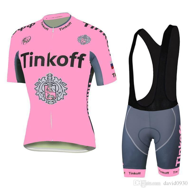 Tour De France Tinkoff Saxo Bank Pink Cycling Jerseys Bike Wear Bib ... cd04c0fac