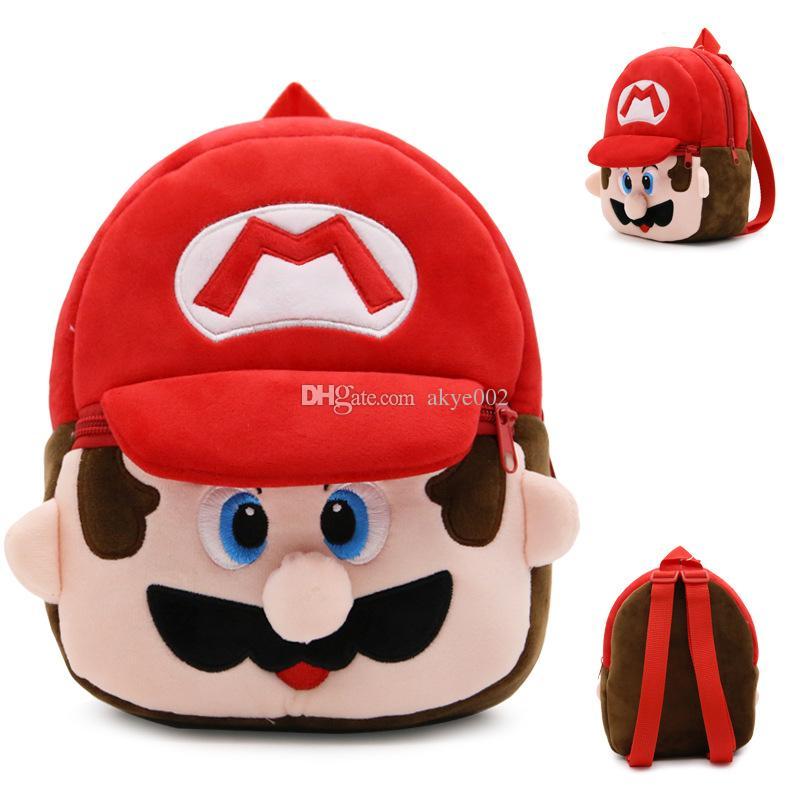 21*23.5CM My Neighbor Totoro Pikahcu Super Mario Cartoon Mario Luigi Plush Backpack Spider-man Toy Mini School Bag Child Student Bags A001