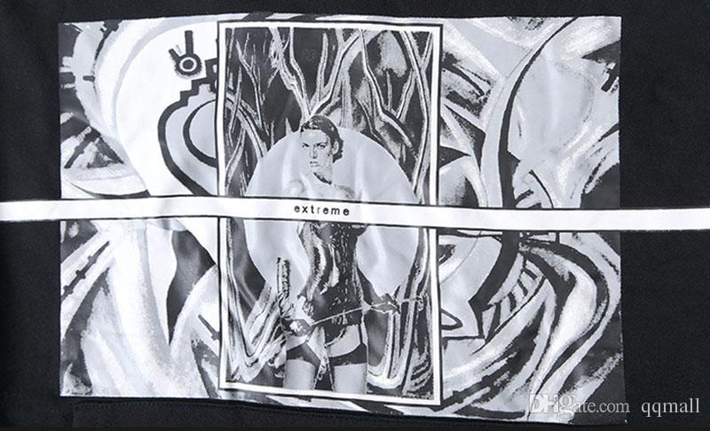 Casual Cartoon Printing Hooded Sweatshirts of Men Black Apricot Swag Tyga Hoodie Heavy Metal Top SportSuit