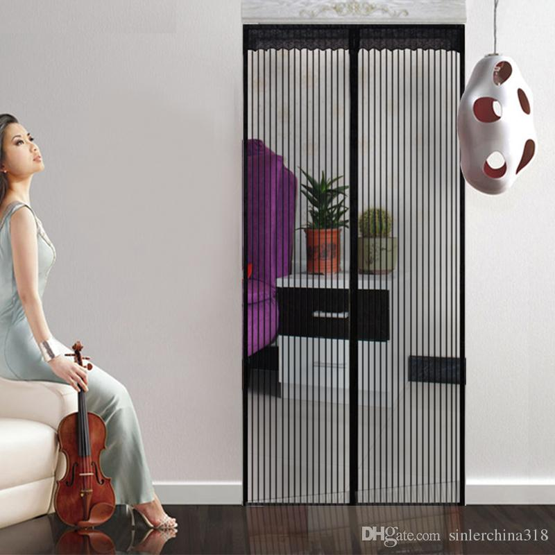 Black Color 90x210cm Anti Mosquito And Insect Magnetic Screen Door Net With  Color Stick Bins Mosquito Net Malaysia Mosquito Killing Machine From ...