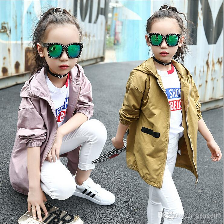 301c4cf54896 Girls Clothes Trench Coats Jackets Clothing Tops Kids Children s  Windbreakers Spring Jacket Autumn Outerwear Baby Hooded Coat Girl Coat  Jacket Full Sleeve ...
