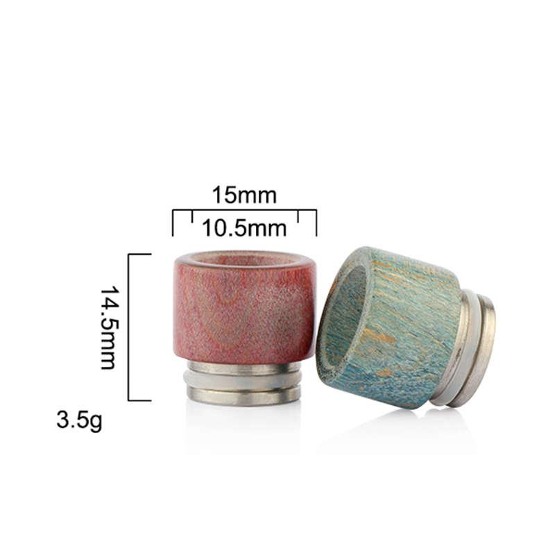 Atlantis Drip Tips Stable Wood Wide Bore Driptips E Cigs Stable Wood Material Mouthpiece For Atlantis V2 Tank Atomizers DHL