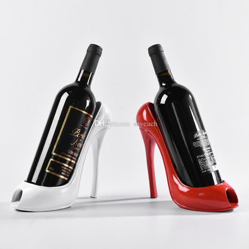 2019 High Heel Shoe Wine Bottle Holder Rack Plastic Resin Wine Racks Home  Wedding Party Decoration Accessories From Saveach 2460da202f63