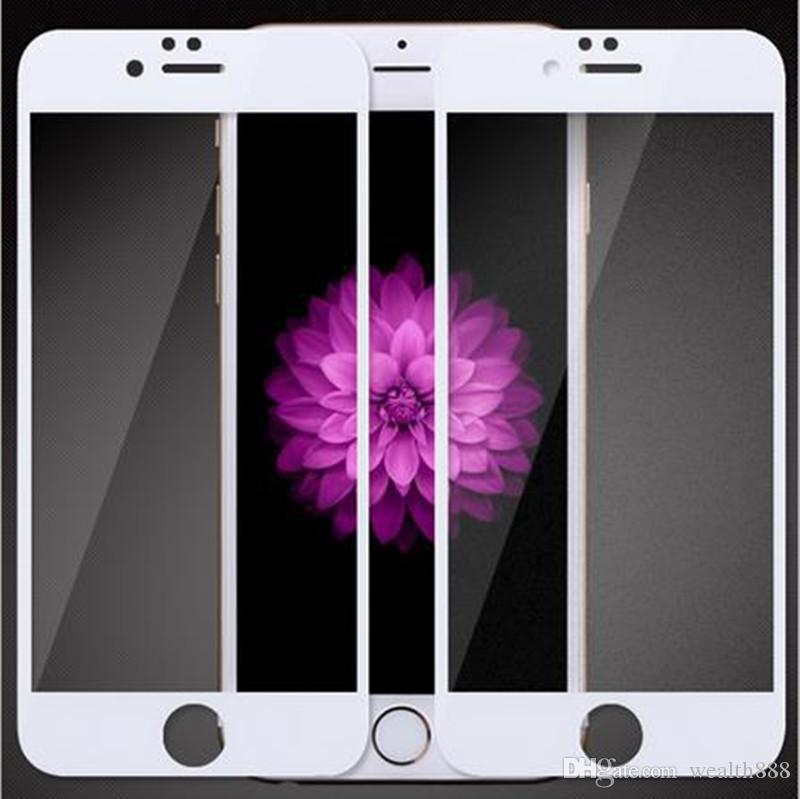 Full Covered Tempered Glass 9H Explosion Proof Scratch-resistant Screen Protector for iPhone 7 6 Plus