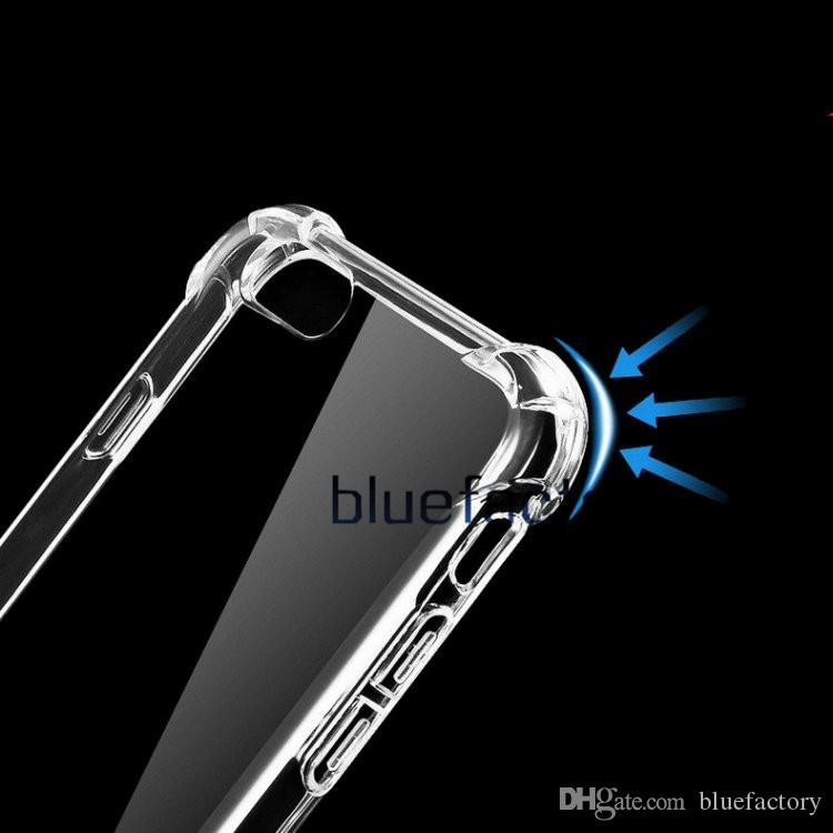 Para iphone x 8 flexibilty silicone transparente macio tpu limpar case anti-choque tampa de borracha gel shell para iphone 7 para samsung s8 plus nota 8