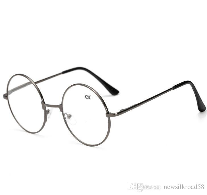 9dfa95f23b Retro Metal Round Reading Glasses Men Women Eyeglasses Presbyopia Harry  Potter Reading Glasses Reading Glasses Case Reading Glasses For Computer  From ...