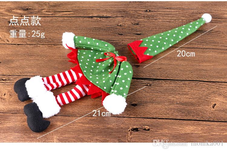 Wholesale Skirt style Wine bottle cover Red Wine gift bag Gift Wrap Christmas decorations